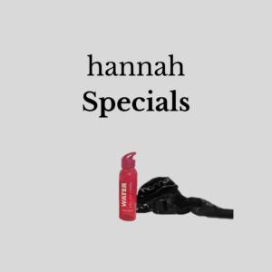 hannah Specials