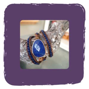 Wikkelarmband Blue